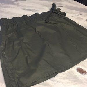 Express High Waisted Wrap Mini Skirt